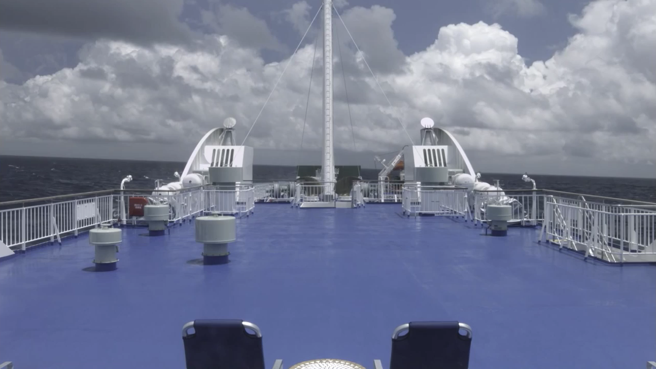 原先收音聽不出大船的感覺,在聲音處理後,就像人真的在船上。