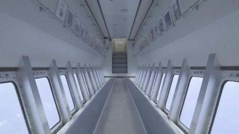 透過輪機聲音採樣,讓船艙的環境音具有「太空感」。