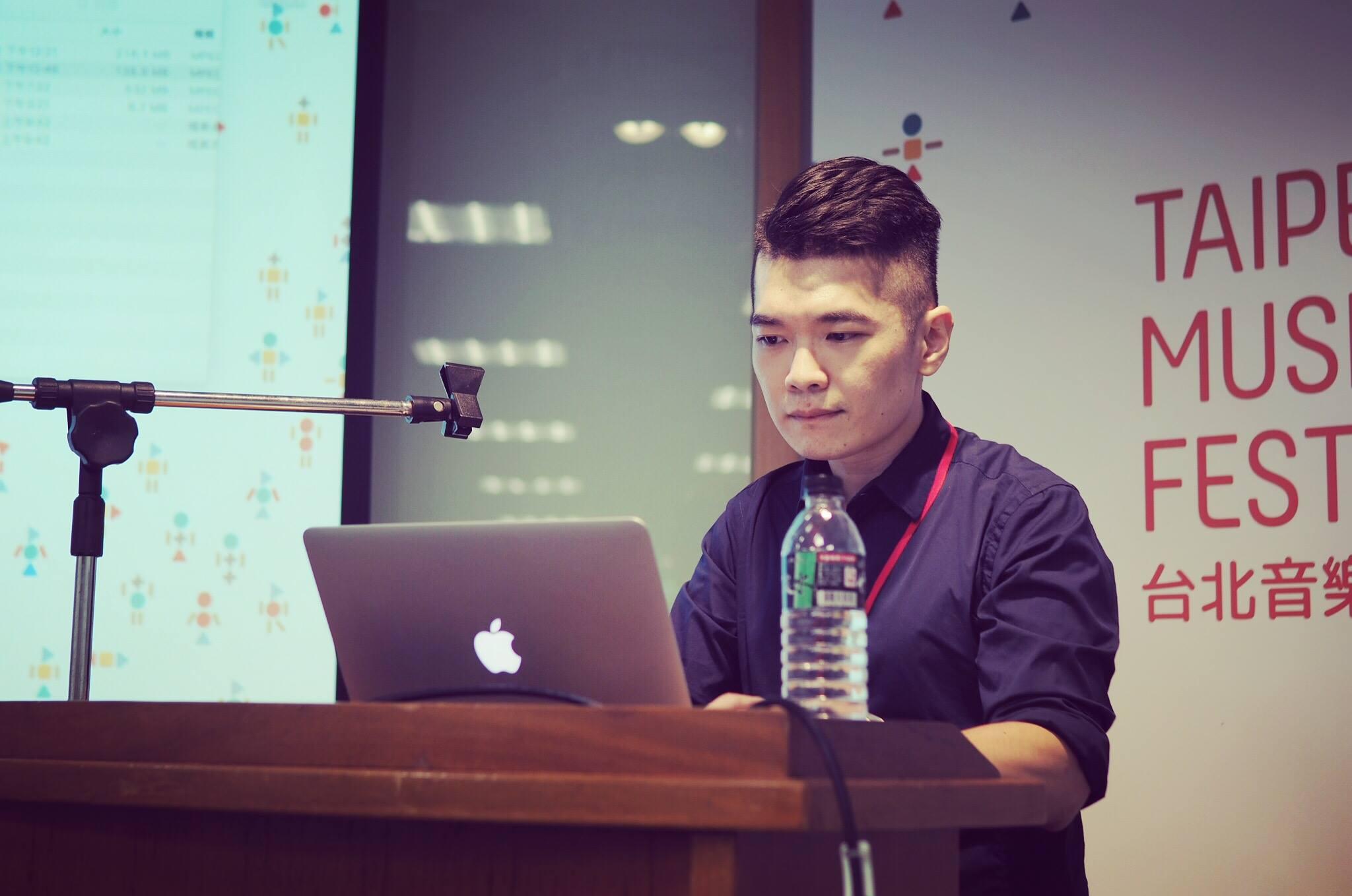 王信翔2018在台北音樂設計節(攝影:加點音樂)