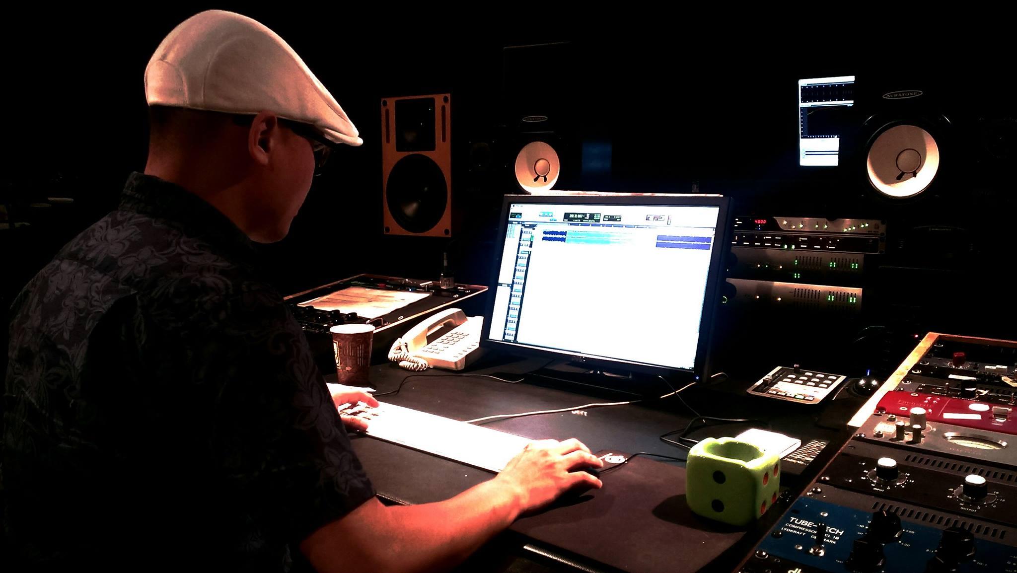 錄音工事(照片提供:J.Wu)
